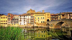 Превью обои испания, каменный мост, река