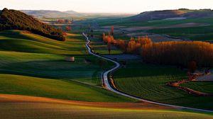 Превью обои испания, вальядолид, трава, холмы, небо
