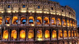 Превью обои италия, рим, колизей, архитектура