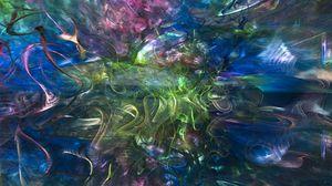 Превью обои изгибы, свечение, абстракция, разноцветный