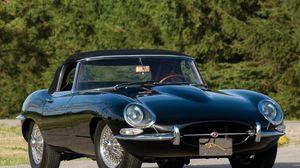 Превью обои jaguar, e-type, 1961, черный, ретро