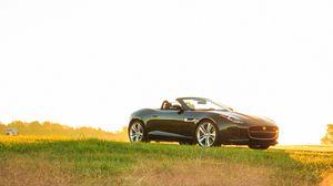 Превью обои jaguar, f-type, v8 s, кабриолет, вид сбоку