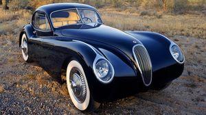 Превью обои jaguar, классика, ретро, авто