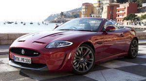 Превью обои jaguar, xkr-s, кабриолет, вид сбоку