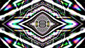 Превью обои калейдоскоп, фрактал, линии, абстракция