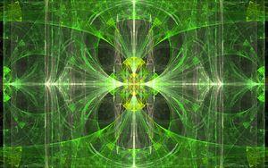 Превью обои калейдоскоп, фрактал, узор, зеленый, абстракция