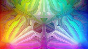 Превью обои калейдоскоп, узор, разноцветный, абстракция