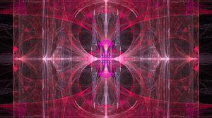 Превью обои калейдоскоп, узор, розовый, абстракция