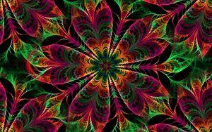 Превью обои калейдоскоп, узоры, цветы