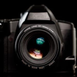 Превью обои камера, объектив, оборудование, черный