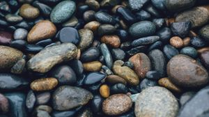 Превью обои камни, море, поверхность, гладкий