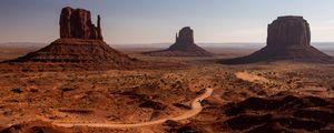 Превью обои каньон, долина, пустыня, скалы, пейзаж