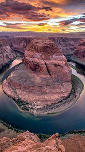 Превью обои каньон, река, подкова, колорадо, аризона