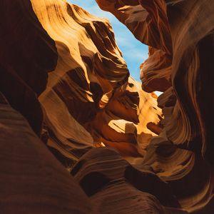 Превью обои каньон, щель, каньон антилопы, аризона, сша
