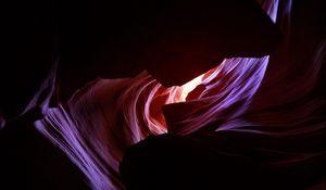Превью обои каньон, щель, слои, склоны