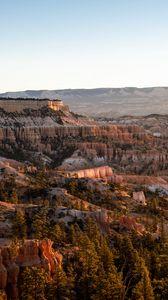 Превью обои каньон, скалы, деревья, природа, пейзаж