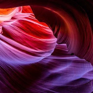 Превью обои каньон, слои, щели, песчаные скалы, каньон антилопы, аризона