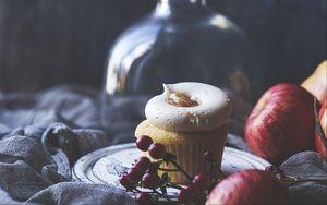 Превью обои капкейк, кекс, крем, выпечка, десерт