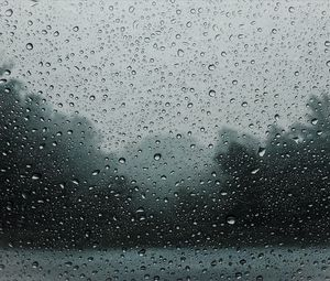 Превью обои капли, дождь, стекло, влажный