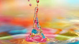 Превью обои капля, вода, жидкость, брызги, всплеск