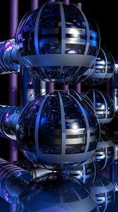 Превью обои капсулы, шары, конструкция, 3d