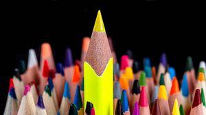Превью обои карандаш, карандаши, разноцветный, макро