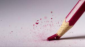 Превью обои карандаш, сломанный, красный, макро