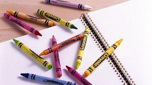 Превью обои карандаш, тетрадь, спираль, листы, разноцветный
