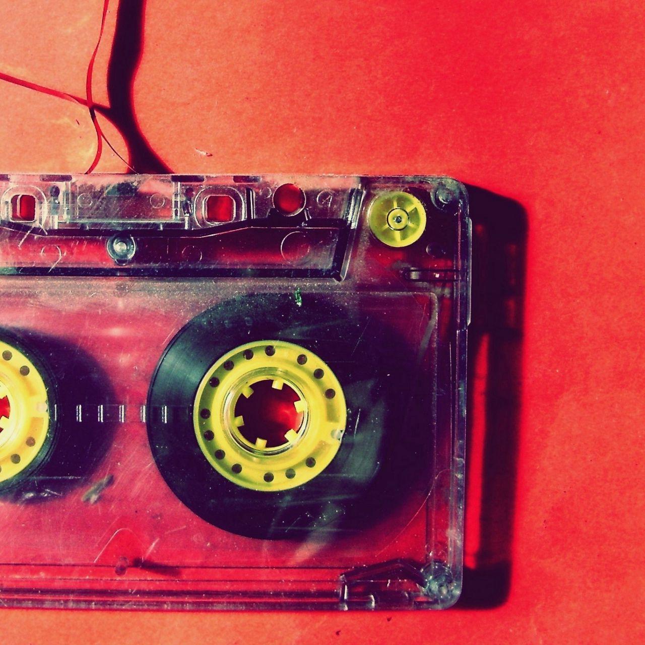 1280x1280 Обои кассета, музыка, старинный, пленка