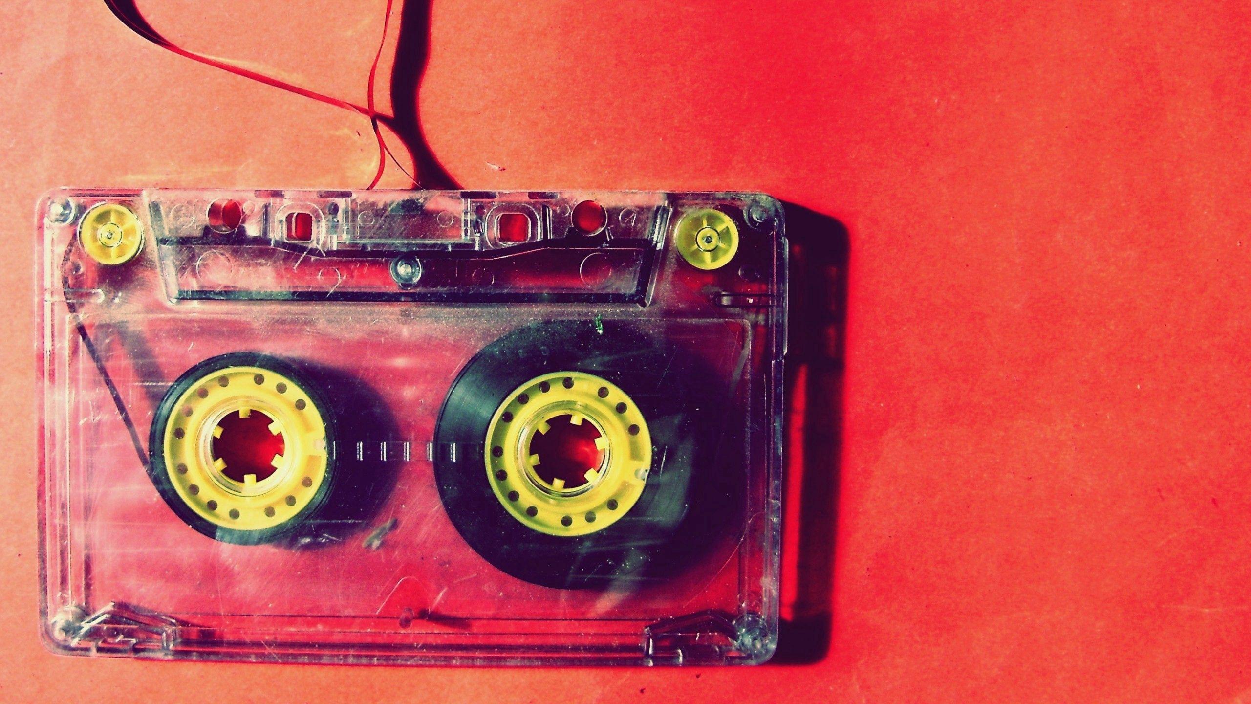 2560x1440 Обои кассета, музыка, старинный, пленка