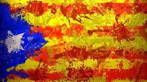 Превью обои каталония, испания, барселона, флаг, символика, краска