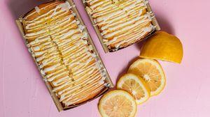 Превью обои кекс, поливка, лимон, десерт, выпечка