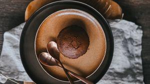 Превью обои кекс, посуда, натюрморт, сковорода