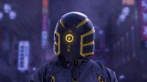Превью обои киборг, робот, экипировка