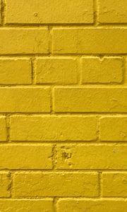 Превью обои кирпичи, желтый, стена, текстура