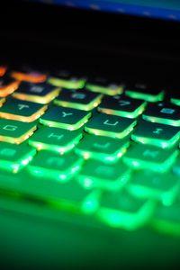 Превью обои клавиатура, подсветка, свет, компьютер
