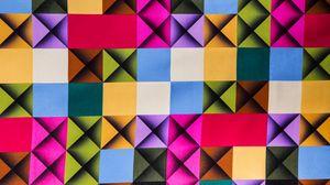 Превью обои клетки, разноцветный, текстура, поверхность