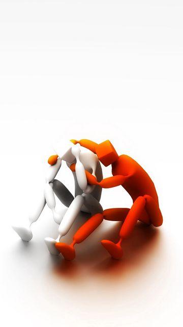 360x640 Обои клипарт, люди, друзья, горечь, поддержка