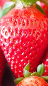 Превью обои клубника, ягоды, красный, макро