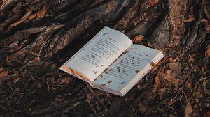Превью обои книга, дерево, лес
