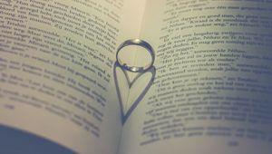 Превью обои книга, кольцо, сердце, любовь