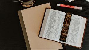 Превью обои книга, закладка, леттеринг, надписи, слова