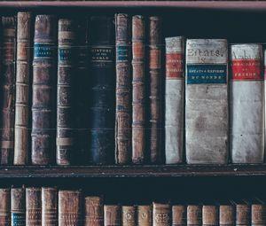 Превью обои книги, полка, коллекция