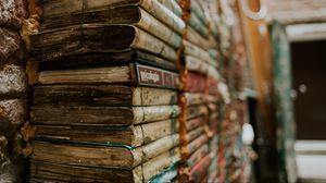 Превью обои книги, старинный, чтение, связка, стопка