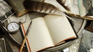 Превью обои книги, винтаж, бумага, открытки, блокнот, ретро