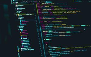 Превью обои код, программирование, монитор, хакер