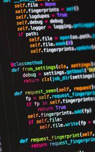 Превью обои код, программирование, текст, строки, разноцветный