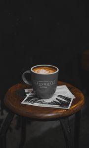 Превью обои кофе, кружка, стул
