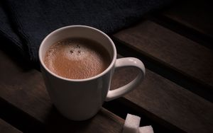 Превью обои кофе, напиток, чашка, сахар