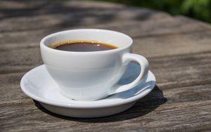 Превью обои кофе, напиток, чашка, завтрак, стол